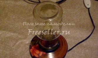 Плафон-пляшка для повністю саморобної лампи