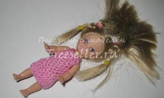 Плаття для ляльок (в`язання гачком)