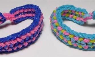 Плетіння широких браслетів з гумок на верстаті - майстер-клас