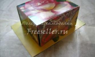 Подарункова коробочка з листівок своїми руками