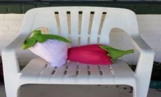 Подушка - гігантська полуниця з тканини своїми руками