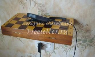 Полка-ящик з складаний шахівниці