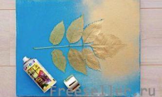Малюємо листя на полотні