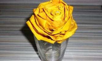 Роза з листя клена. Як зробити квітка