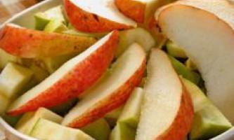 Салат з яблук і груш