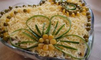 Салат з курки і грибів