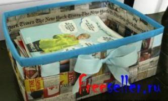 Саморобна кошик з газет