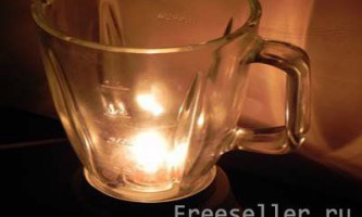 Саморобна настільна лампа з блендера