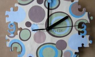Саморобні годинник-пазли