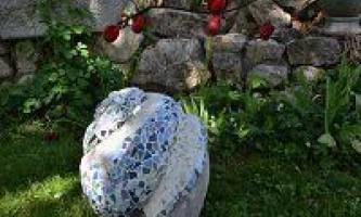 Саморобні фігурки для саду - равлики