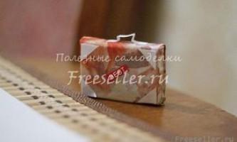 Саморобний міні чемоданчик з сірникової коробки