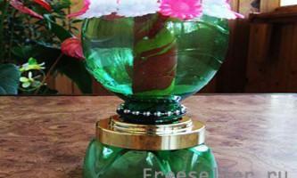 Саморобний свічник з пластикової пляшки