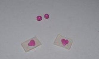 Сережки з полімерної глини «конверти»