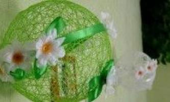 Кулі з ниток з квітами