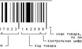 Штрих коди товарів