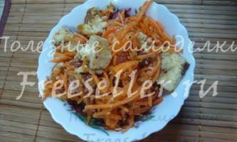 Соковитий салат з корейською морквою