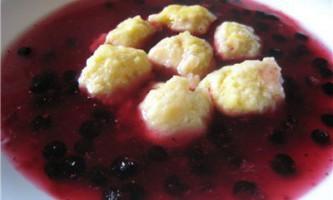 Суп з чорної смородини. Рецепт з фото