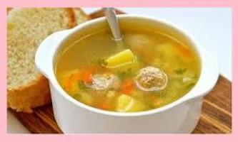 Суп з фрикадельками