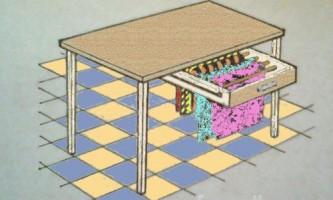 Сушарка під столом своїми руками