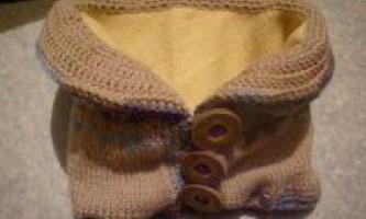Теплий двошаровий шарф-комір
