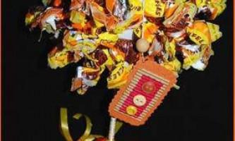 Топиарий з цукерок
