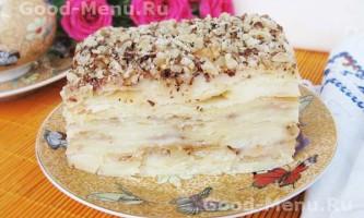 Торт наполеон, заварний крем для наполеона