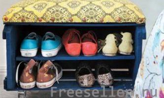 Тумбочка для взуття з ящика для фруктів