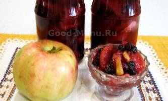 Варення з яблук з чорноплідної горобини