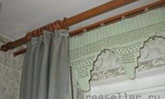 В`язання карниза для оформлення вікна