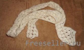В`язання стильного шарфика