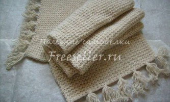 В`яжемо симпатичний теплий шарфик своїми руками