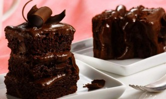 Смачний сметанний торт з какао