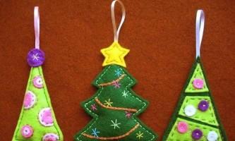 Викрійки новорічних іграшок з фетру