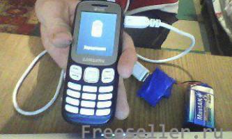 Зарядка телефону з батарейки крона