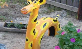 Жираф зі старих шин