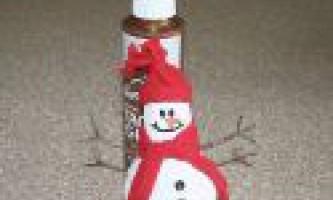 Зимові вироби: сніговик з лампочки своїми руками, майстер-клас з фото